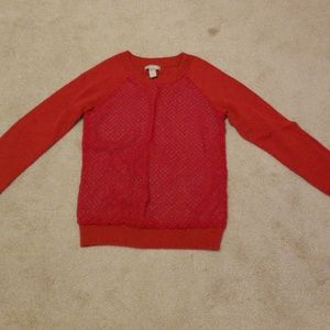 Banana Republic sweater sz xs red